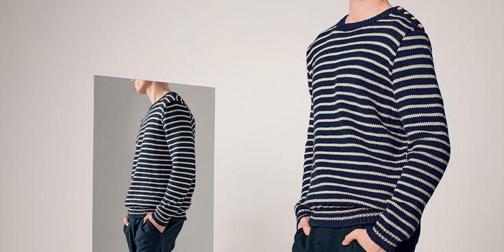 Patron pour tricoter une marinière pour homme