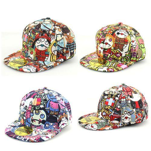 Kids-Boys-Girl-Hip-Pop-Vampire-Adjustable-Baseball-Toddler-Cap-Flat-Snapback-Hat