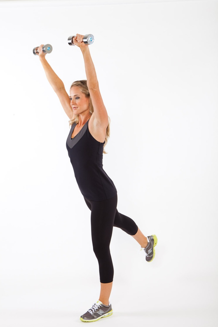 This is one of my favorite total body toning moves! Try this Head to Toe toner at home with a pair of dumbbells..