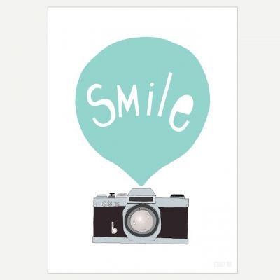Affiche Smile A3 - Mint