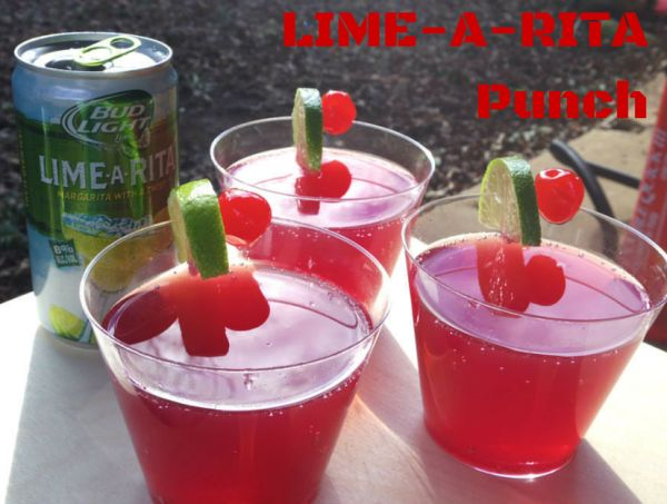 Lushworthy Creations: Lime-A-Rita Punch (Made Using Bud Light Lime-A-Rita, Straw-Ber-Rita & Raz-Ber-Rita)