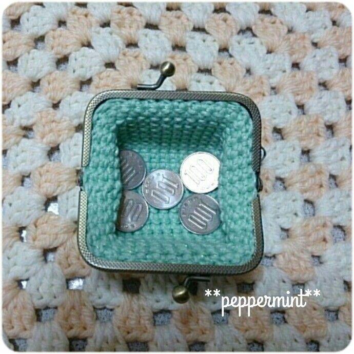 #coinpurse #crochet #gamaguchi