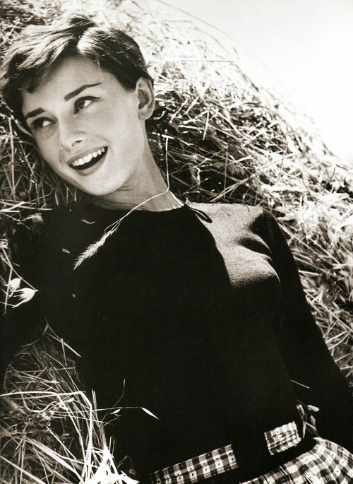 Audrey Hepburn at La Vigna, the Italian farmhouse Mel Ferrer rented for them while they filmed 'War and Peace'.