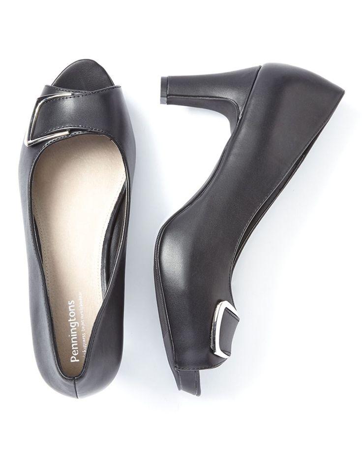 Wide-Width High Heel Open Toe ShoesWide-Width High Heel Open Toe Shoes