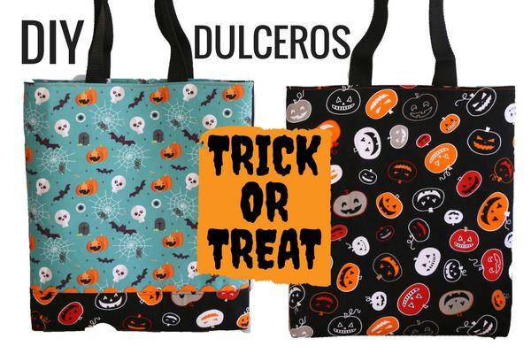 DIY TRICK OR TREAT BAG | Dulceros para niños Halloween. Bolso truco o trato. Manualidades Halloween