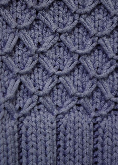 Smocked point - it's part of a free pattern for a tank by ms.cleaver