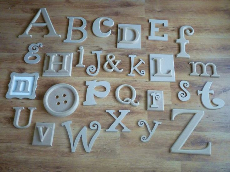 WOODEN ALPHABET WALL LETTERS