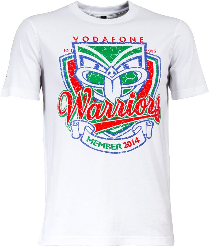2014 Vodafone Warriors Members Tee #WarriorsGear #WarriorsForever #NRL #Tee #Tshirt #Retro Go to www.warriorsstore.co.nz