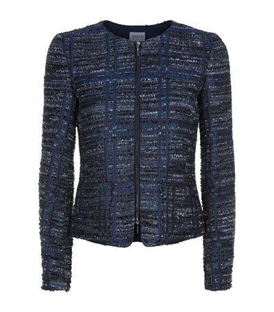 Armani Collezioni Check Bouclé Jacket | Harrods