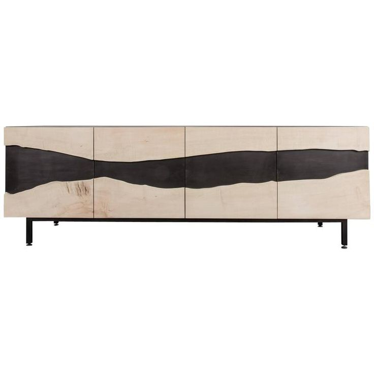 Summit Media Unit By Uhuru Design, Bleached Maple, Blackened Steel