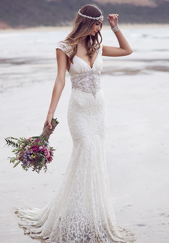Anna Campbell Wedding Dresses 2016 ebony2 - Deer Pearl Flowers