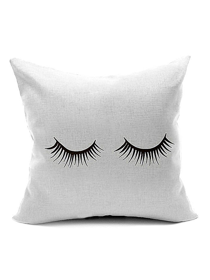 Concise Eyelash Print Sofa Seat Backrest Pillow Case