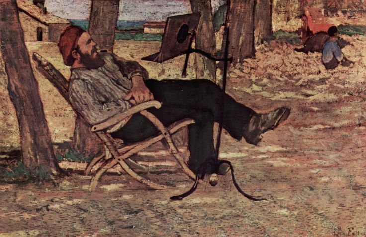 Italy's Impressionism Age: art critic Diego Martelli smoking his #toscano #cigar, a portrait by Giovanni Fattori