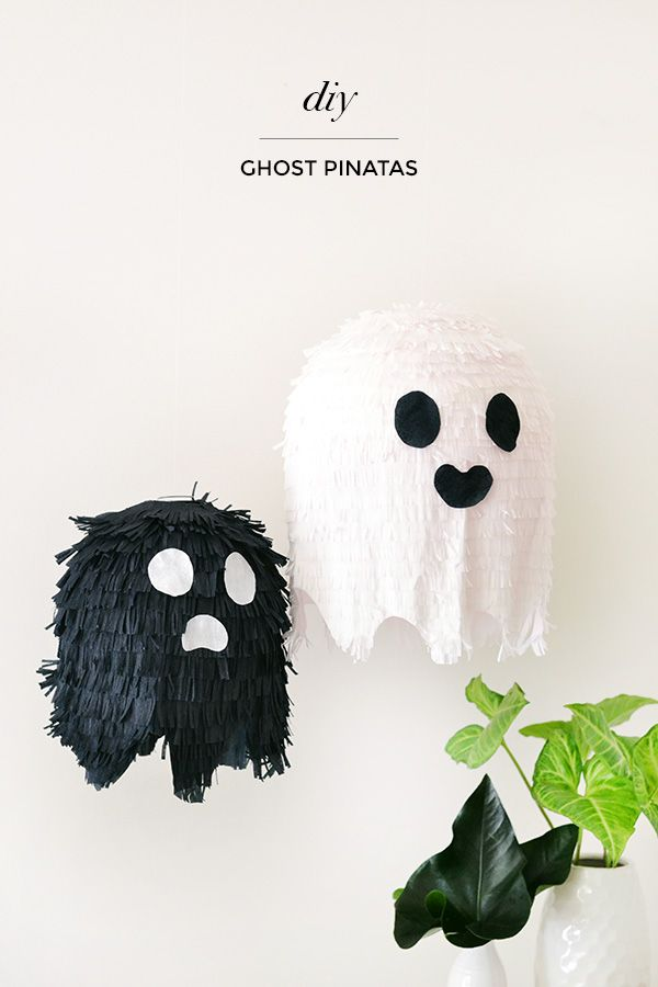 DIY Ghost Piñatas made out of paper lanterns!