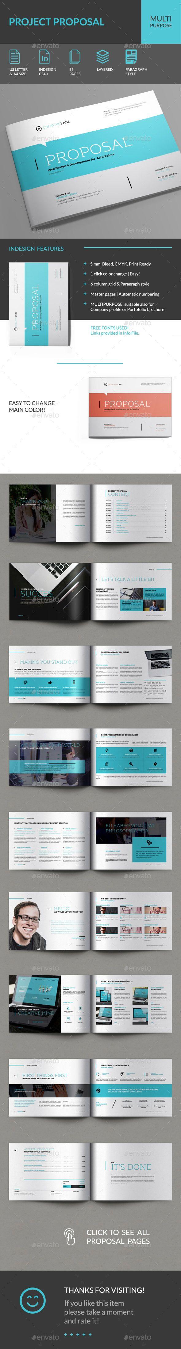 Proposal Template InDesign INDD #design Download: http://graphicriver.net/item/proposal/14491505?ref=ksioks