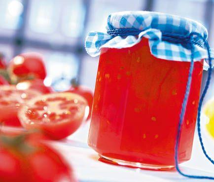 Konfitüre aus reifen Tomaten