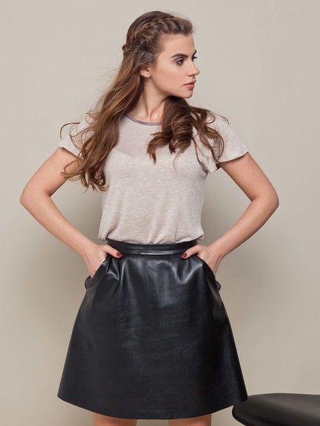 Uniwersalna spódnica z wygodnymi kieszeniami czarny, 108 zł✔️
