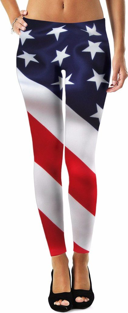 patriotic america flag team usa leggings
