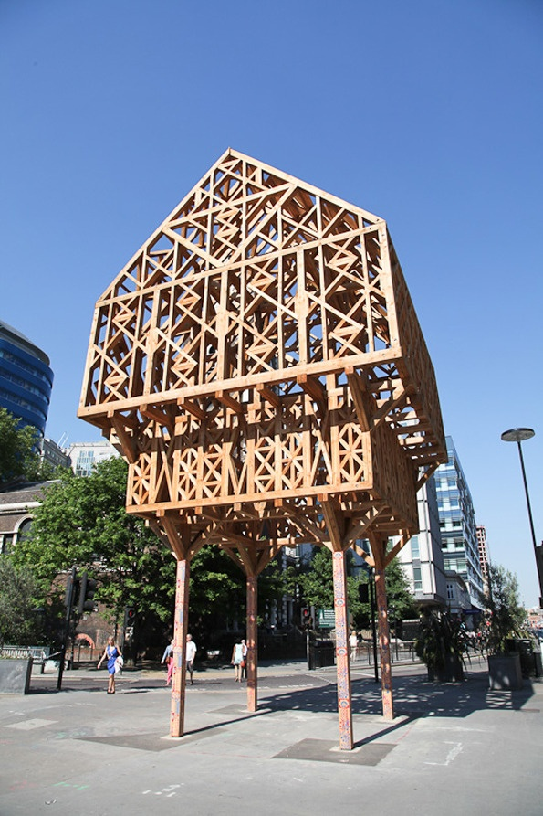 Studio Weave's beautiful piece of architecture in London is newly standing on its spindly legs