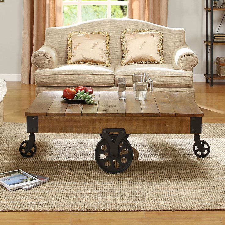 Stylish Designer Coffee Table Industrial Antiques Steam: ETHAN HOME Myra Vintage Industrial Modern Rustic Cocktail