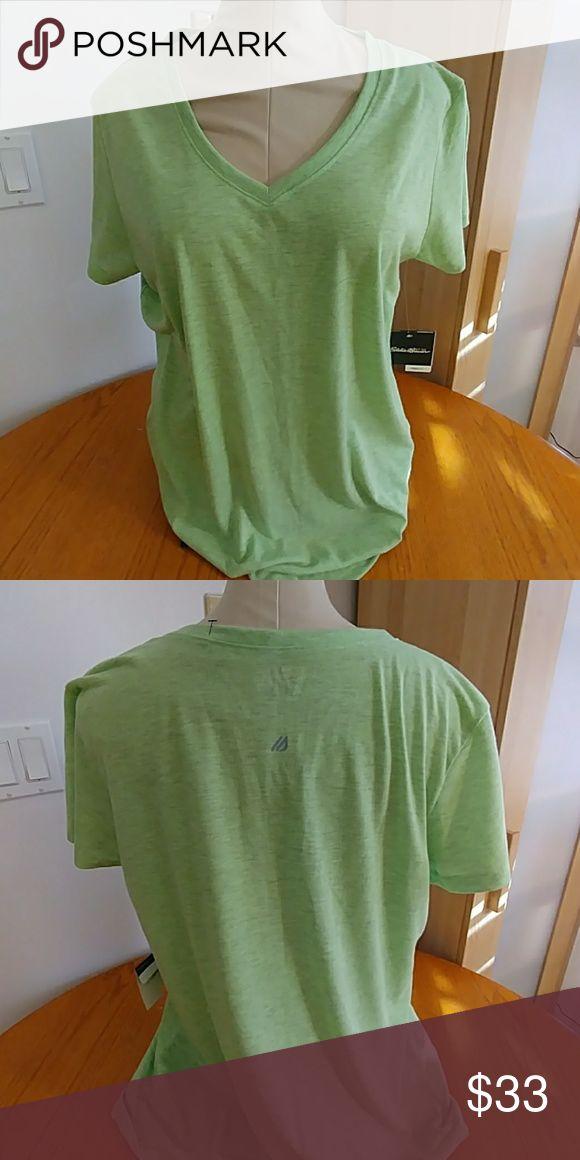 Eddie Bauer shirt woman 2xl Lime green woman 2xl Eddie Bauer Tops Tees - Short Sleeve