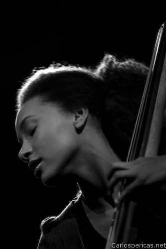 Esperanza Spalding, jazz bassist and singer. She draws upon many genres in her own compositions. She won a Grammy Award for Best New Artist, making her the 1st - and only - jazz artist to win the award. In addition to uptight bass, she can play bass guitar, oboe & clarinet, and sing in English, Spanish & Portuguese. After her graduation from Berklee College of Music, she was hired by the college, becoming one of the youngest instructors in the institution's history, at age 20.
