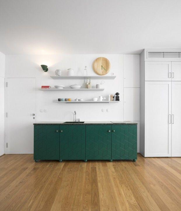 194 best Mur-blanc images on Pinterest - cuisine verte et blanche