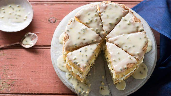 Passionfruit sponge cake recipe : SBS Food