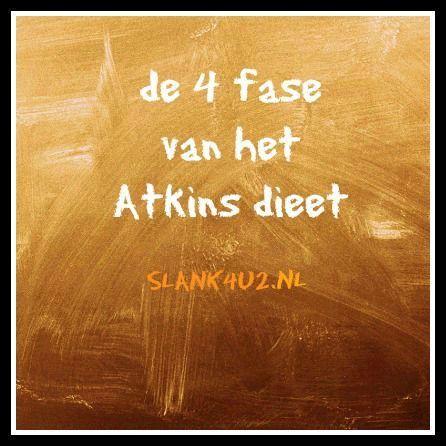 de 4 fase van het Atkinsdieet-slank4u2