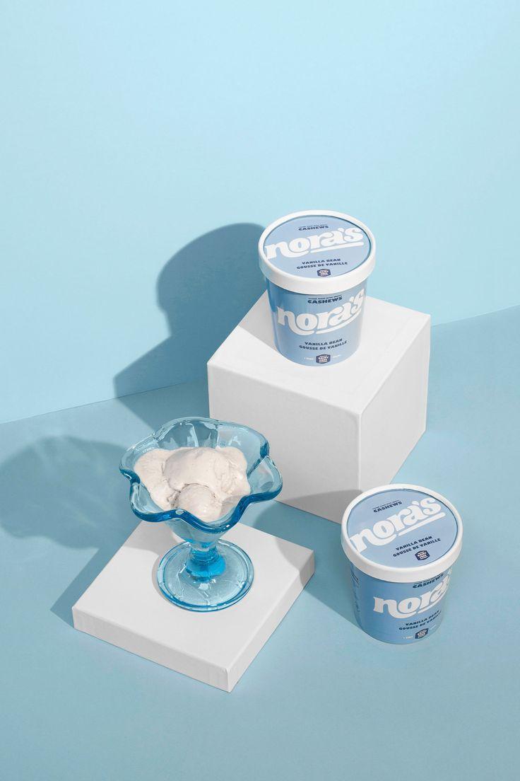 Diseño de empaque de tina de vainilla de helado no lácteo de Nora.   – No Gallbladder Probs