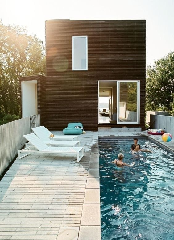 38 Minimalist Swimming Pool Design For Small Terraced Houses Homiku Com Swimming Pool Designs Pool House Designs Terrace Design