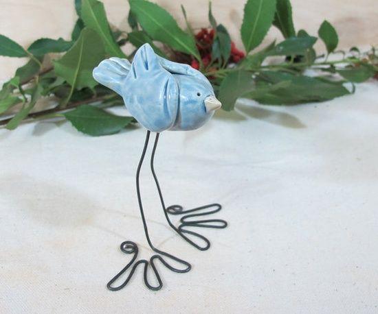 bluebird - love the wire legs