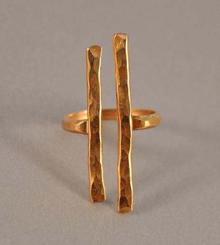 Hammered Gold Couplet Ring   Jewelry Rings   Ilsa Loves Rick   Scoutmob Shoppe   Product Detail