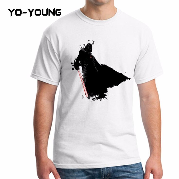 Yo-Young Men T Shirts Star War Kylo Ren Darth Vader Digtial Printed 100% 180g Combed Cotton Funny T shirts For Men Customized