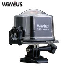 Wimius 4K Sports Action Camera Wifi 360 Degrees VR Panorama 16MP 2448P 30FPS Full HD Mini Go Waterproof 30M Pro Video Helmet Cam