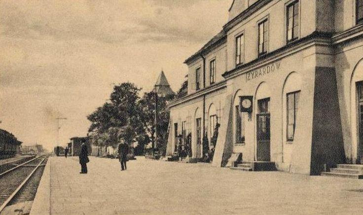 Dworzec kolejowy, Żyrardów - 1922 rok, stare zdjęcia
