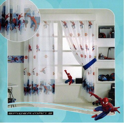 SPIDERMAN GARDINE 1 TEIL 1x(208x126) KINDERZIMMER DISNEY TOP ANGEBOT+ ...