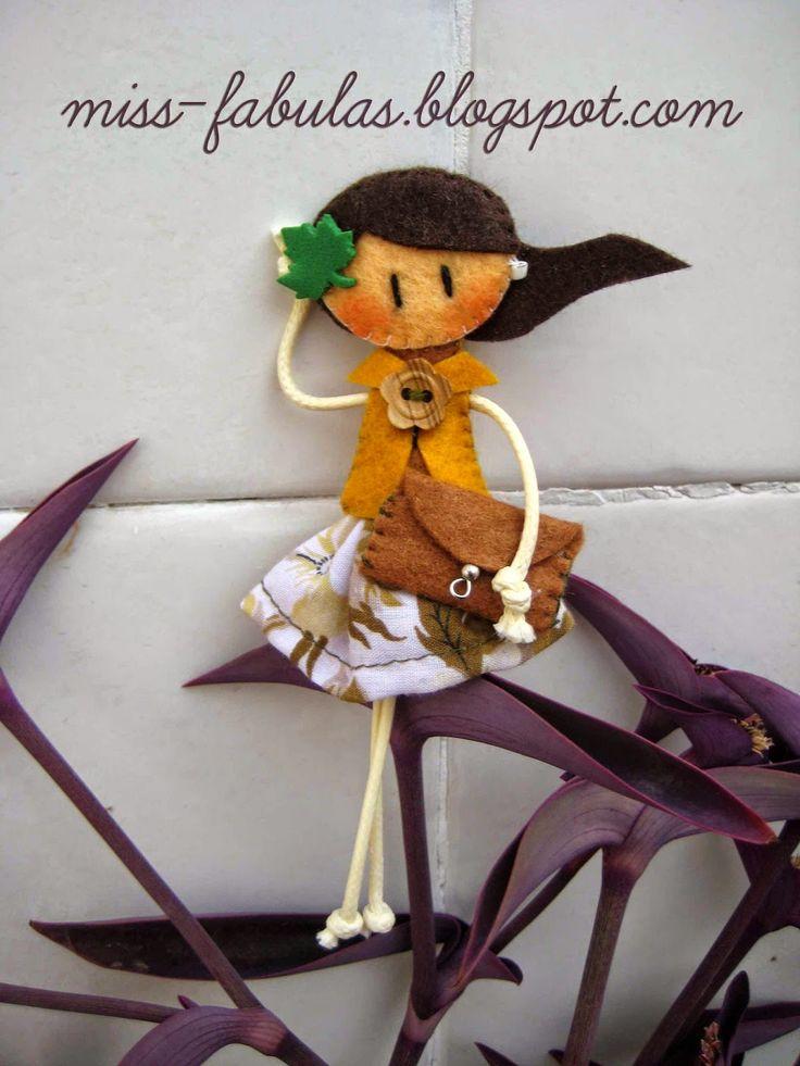 Broche muñeca otoño.