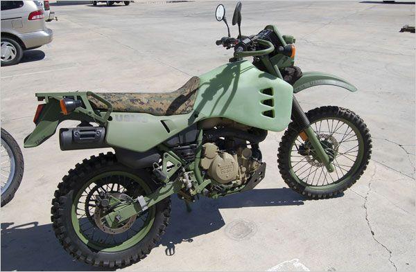 Kawasaki Klr650 Diesel Sipping Motorcycle For The Marine