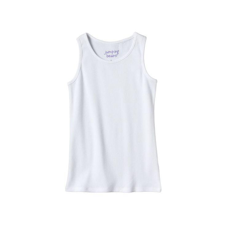 Girls 4-10 Jumping Beans® Basic Ribbed Tank Top, Girl's, Size: 6X, White