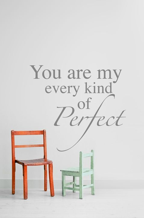You are perfect #wall #stickers #decals #vinyl #quotes