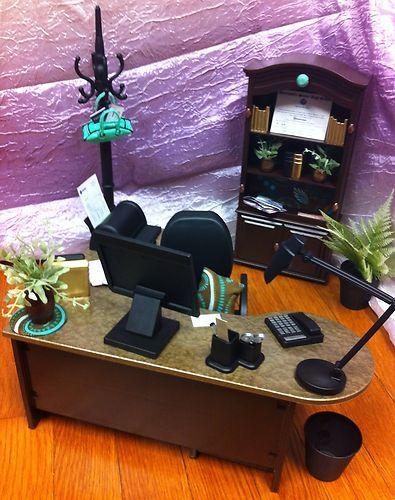 Ooak Barbie Office 1:6 Scale Furniture Accessories Living Room House  Diorama. Barbie Stuff ... Part 98