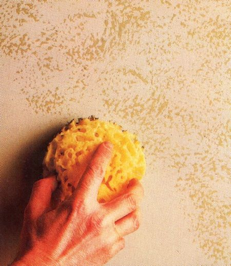 Use a sponge to obtain special effects with paint. My friend tried this once in her old apartment, and it looked really cool.