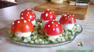 Κολατσιό από ... σπίτι: Γεμιστά αυγά μανιτάρια!