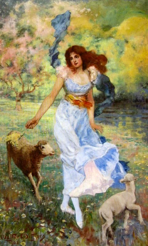 Walter Withers: Allegory to Spring, (Portrait of Gladys Manifold)