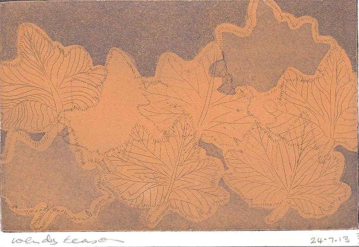 Wendy Leason, Summer leaves, Etching, $60