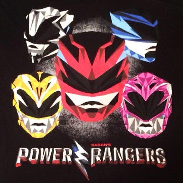 Power Rangers (2017) T-Shirt Front. #powerrangers #tshirt #front #2017 #red #redranger #pink #pinkranger #blue #blueranger #yellow #yellowranger #black #blackranger