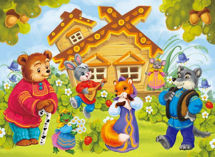 Иллюстрация к детской настольной игре на магнитах. Фон + вырезанные персонажи.