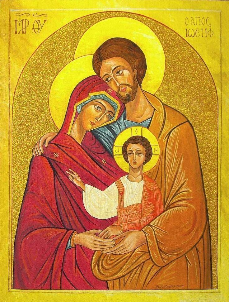 Ikona Św. Rodziny - olej na płótnie 2005