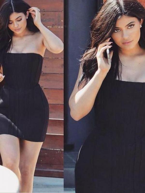 Hot in Black! Gaya Seksi Kylie Jenner Saat Bertamu ke Markas Snapchat